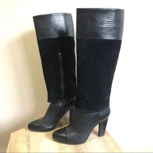 Nine West Marcelles Leather Knee Boots - Size 7